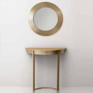 "Console table ""Chord"" (brass, stainless steel)"