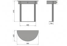 "Drawing of a metal table ""Horda"""