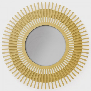 "Mirror Wall ""The Sun"" (brass, stainless steel)"