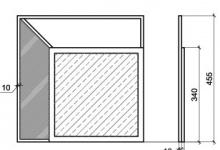 "Mirror wall ""Vittoria"" (MA 07-R), dimensions"