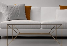 """Coffee table """"Weightlessness"""", СТ 01 (in the interior)"""