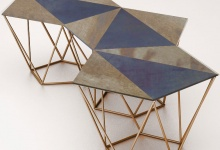 "Combination of 3 coffee tables ""Harlequin"""